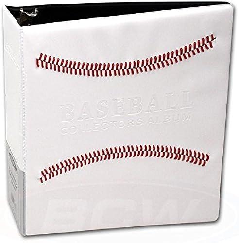 venta blanco blanco blanco Stitched Baseball Card Collectors Album (3 D-Ring Binder) by Ultra Pro  cómodamente