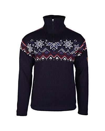 Dale of Norway Herren Fongen WP Masc Pullover, Marineblau/Offwhite/Red Rose/Indigo, L