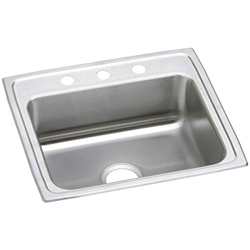 Elkay Celebrity PSR25223 Single Bowl Top Mount Stainless Steel Sink