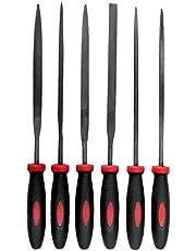 Werkzeyt B20206 Mini-vijlset, 6-delig, geschikt voor alle metalen, vijllengte van 100 mm, 2-componenten handgrepen, hoogwaardige stalen messen, ronde vijl, platte bottels, B20206