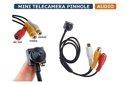 BES SRL Micro Camera Spia pinhole Telecamera ccd Sicurezza videosorveglianza 202e HD