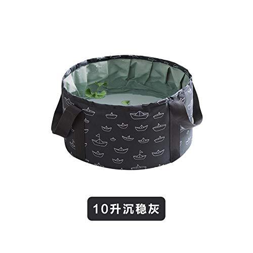 Tragbares faltbares Becken Große Reise-Fußtasche Waschbecken Außenbecken Waschbecken Fußwaschbehälter