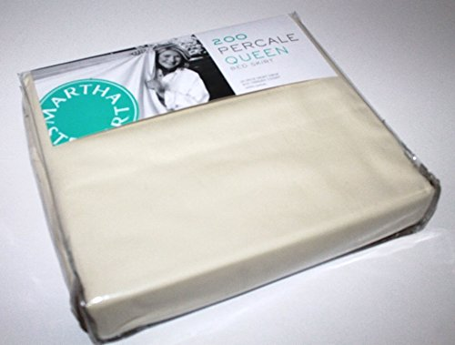 Martha Stewart Collection 200 Percale Queen Tailored Bedskirt Beige