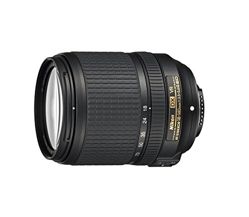 Nikon Obiettivo Nikkor AF-S DX 18-140MM F/3.5–5.6G ED VR, Nero [Nital Card: 4 Anni di Garanzia]