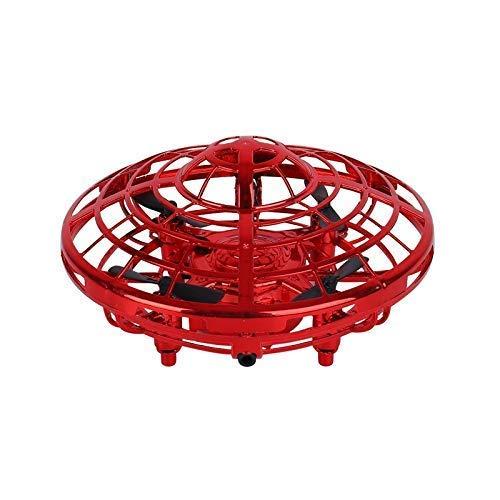 Desktop Dekoration Kinder Mini Drohne - Freisprecheinrichtung Schwebe Drohne Tragbare Tasche Quad-Achse 360DEG;Rotierende und glänzende LED-Leuchten UFO-Spielzeug Smart Sensor Flugzeug Jungen Mädchen