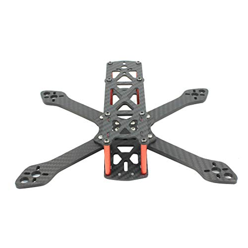 QWinOut Martian II 2 220/250 220mm 250mm 4mm Arm Thickness Carbon Fiber Frame Kit w/PDB for FPV Racing Drone Quadcopter (220mm)