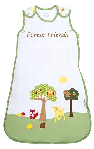 Schlummersack Baby Sommerschlafsack 1 Tog 70cm/ 0-6 Monate - Waldtiere, Mehrfarbig