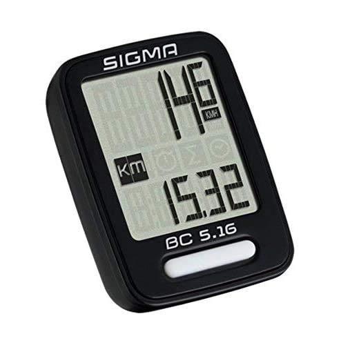 -Sigma Fahrrad Computer BC 5.16 - Radcomputer Schwarz kabelgebunden