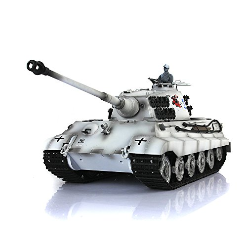 Henglong 1/16 6.0 Customized King Tiger RC Tank 3888A Barrel Recoil Track Wheels