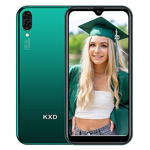 KXD A1 Teléfono Móvil Libres Android Quad Core Smartphone Libre Baratos Dual SIM, Pantalla 5,71' IPS Water-Drop Screen Movil, Cámara trasera y frontal 5MP 16GB ROM (128GB Ampliable SD), Verde