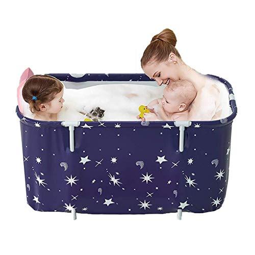 Tragbare Badewanne, Faltbadewanne, Badfass Kunststoff SPA Badepool Extra Große Mobile Badewanne für Erwachsene Kinder 120cm