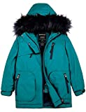 Wantdo Girls's Waterproof Ski Jacket Winter Warm Snowboarding Outwear Winter Coat Blue 14/16