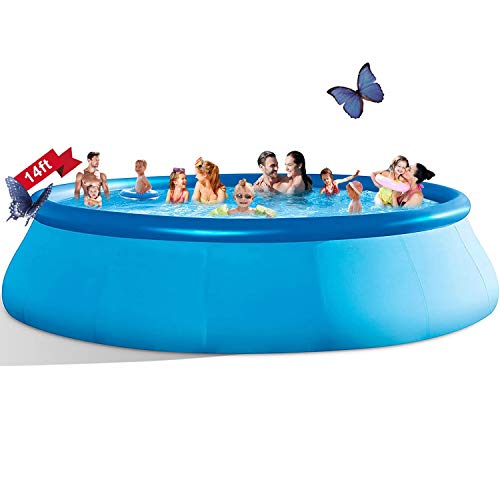 Inflatable Swimming Pools Above Ground - 14ft x 33in...