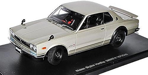 AUTOart Nissan Skyline Coupe Silber 2000 GT-R KPGC10 1968-1972 77381 1 18 Modell Auto mit individiuellem Wunschkennzeichen