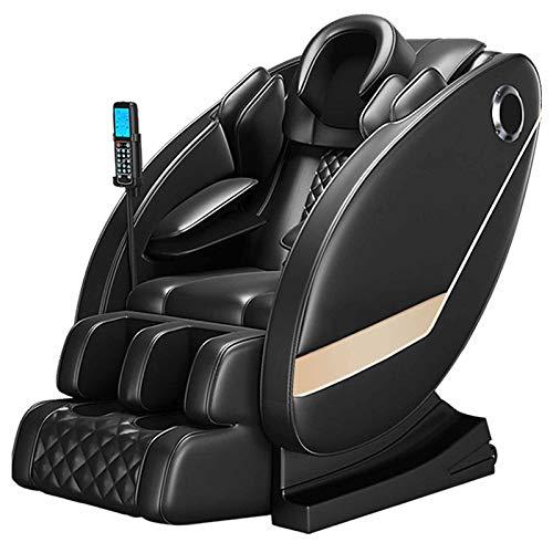 Sillón Masajeador Todo El Cuerpo De Airbag Envoltura/Gravedad Cero/LED De Funcionamiento/Audio De Alta Fidelidad De Bluetooth De Instalación/Gratuito,Negro