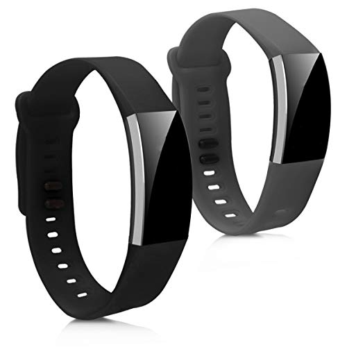 kwmobile Armband kompatibel mit Huawei Band 2 / Band 2 Pro - 2X Silikon Fitnesstracker Sportarmband