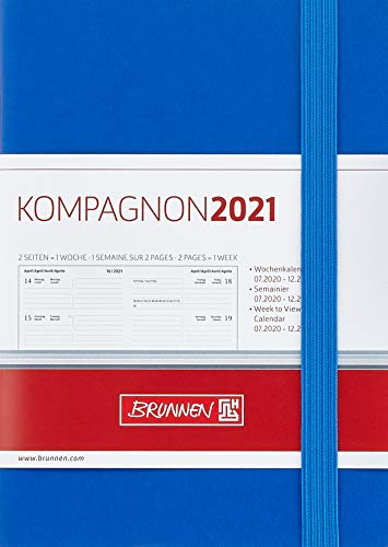 BRUNNEN 1073266321 Wochenkalender/Taschenkalender 2021 Modell 732 Kompagnon