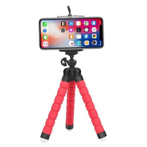 Xusuyunchuang Teléfono Rojo trípode Flexible del Pulpo for GoPro 8 7 5 Negro Xiaomi Yi 4K Sjcam DSLR con teléfono Clip Tableta representan Montaje for móviles (Color : Red)