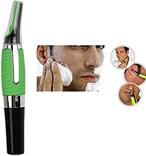 Sanket Enterprise All in one Personal Nose Ear Hair Eyebrow Trimmer with LED Light for Men and Women (Green)