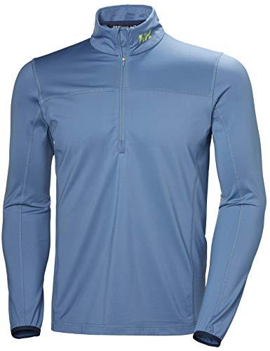 Helly Hansen Phantom 1/2 Zip 2.0 Ligero Elástico Jersey de Forro Polar, Hombre, Azul Niebla, 2XL