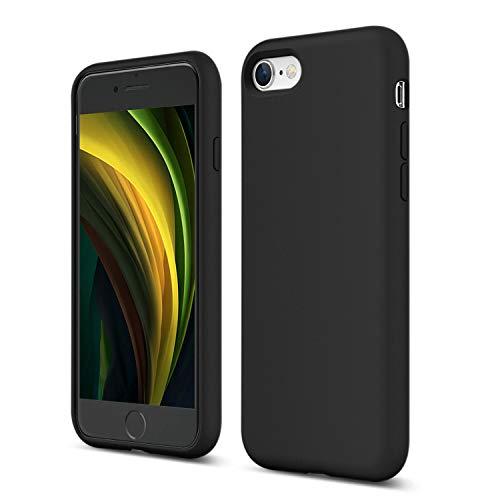 ZUSLAB Nano Silicone Funda para iPhone SE 2020/iPhone 7/iPhone 8 Case Líquido de Silicona Gel Negro