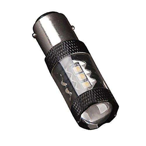MagiDeal 2 Pcs Lumière de Voiture 30W Lampe à Brouillard LED 1156 2828 LED 80W 7000K