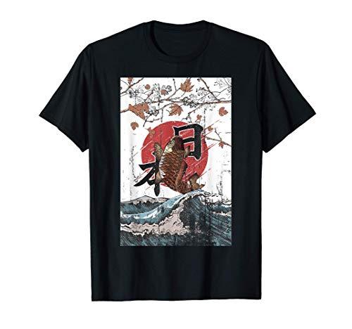Anime japonés Koi Kimono Art Japan Camiseta