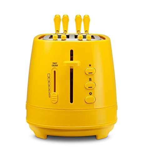 De'Longhi - Tostadora con pinzas - 550W de potencia - Modelo n. CTLAP2203 amarillo