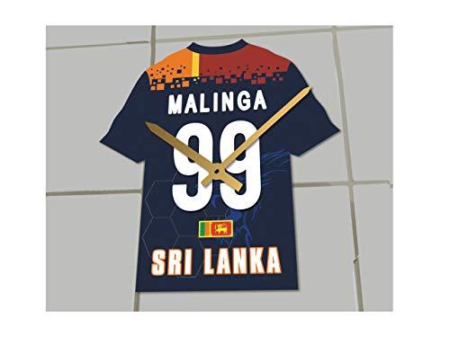 MyShirt123 Internative One Day Cricket-Tame-Uhr – jeder Name, Jede Nummer und jedes Team !, Sri Lanka Cricket Team Shirt Uhr, 19.5cm x 18cm x 0.5cm