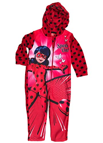 Coole-Fun-T-Shirts Miracullus Overall Ladybug Jumpsuit Onesie meisje rood en blauw Maat 104 110 116 128 cm 4 5 6 7 8 9 jaar