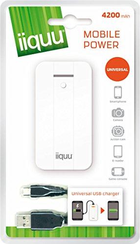 iiquu Powerbank USB universele oplader (4200mAh) voor smartphone/tablet-/actiecam