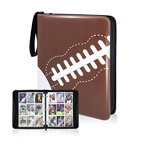 NeatoTek Waterproof 9 Pocket Trading Card Binder, Trading Album Display Holder, Storage Book with 3 Rings, Expandable,720 Double Sided Pocket Album for Yugioh, MTG and Other TCG (Football, 9 Pocket)