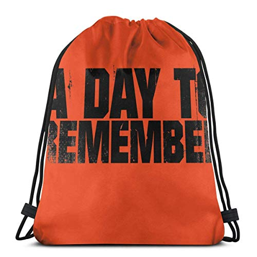 Lsjuee A Day To Reme-mber Logo Mochila ligera con cordón Mochila de entrenamiento a granel Bolsa de compras para hombres y mujeres Niños