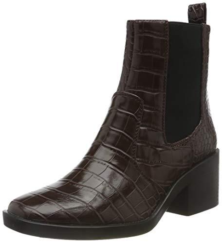 ONLY ONLBLUSH-1 PU STRUCTUR Heeled Boot, Botas Mujer, Color marrón con Detalles de la Piedra, 41 EU