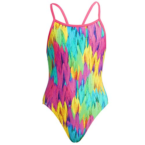 Funkita badpak meisjes Ruffles UV-bescherming 50+, sneldrogend en chloorbestendig