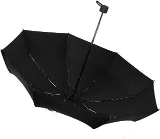 Umbrella Windproof Umbrella Folding Sun Protection Double Layer Female UV Protection Mini Pocket (Color : Black)
