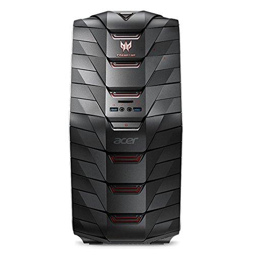 Acer Predator G6-710 Desktop-PC (Intel Core i5-7600K, 8GB RAM, 256GB PCIe SSD, 1.000 GB HDD, GeForce GTX 1060 3GB VRAM, DVD, Win 10) schwarz