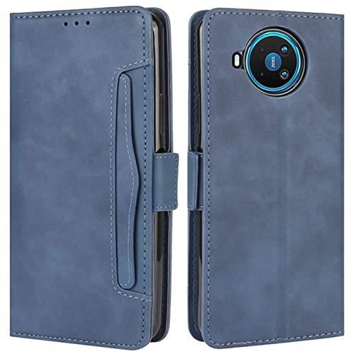 HualuBro Handyhülle für Nokia 8.3 Hülle Leder, Flip Hülle Cover Stoßfest Klapphülle Handytasche Schutzhülle für Nokia 8.3 5G Tasche (Blau)