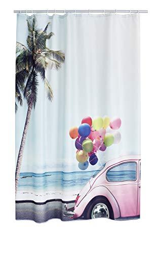 RIDDER 4000300 Duschvorhang Textil ca. 180 x 200 cm, Joy