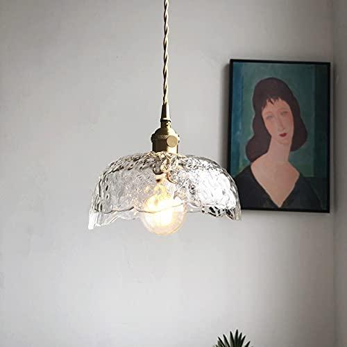 Bkrred Pendenti Nordic Light Americano Rustico Creativo Retro Singolo Capo Glass Chandelier Ristorante Bar Arte di personalità Tutto Il Rame Lampadario