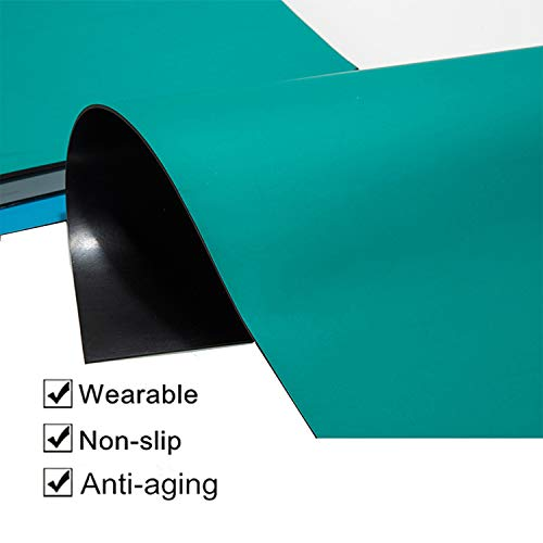 tonchean Anti-static table mat, 118'' x 24'' High Temperature Electrical Grounding Desk Pad, Large Rubber Workbench Mats for Sensitive Electronics Working