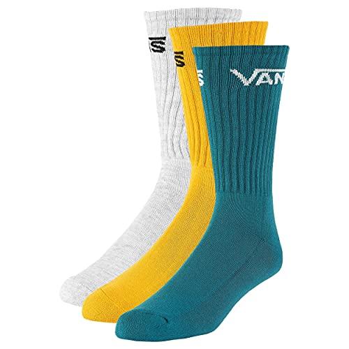 Vans Herren Classic (9.5-13, 3pk) Crew Socke, Golden Glow, Einheitsgröße (3er Pack)