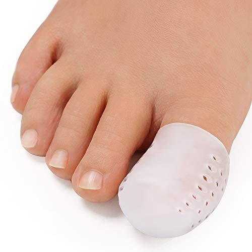 Promifun Gel Big Toe Caps, 12 Packs Toe Protectors, Silicone Breathable Toe...
