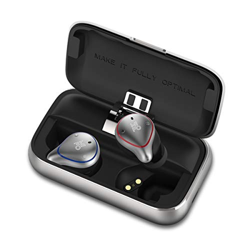 MIFO O5PLUS TWS Wireless Earbuds True Wireless Hi-Fi Stereo Earbuds Bluetooth 5.0 100h Playtime Waterproof Built in Mic Wireless Sports Earphones for Running with 2600mAH Portable Charging Case