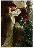 Unikei Leinwand Bilder Romeo und Julia Kunstwerk Poster