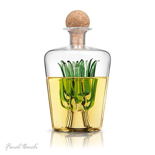 Final Touch Agave Tequila-Dekanter – mit natürlichem portugiesischem Korkverschluss für 850 ml Likör-Spirituosen