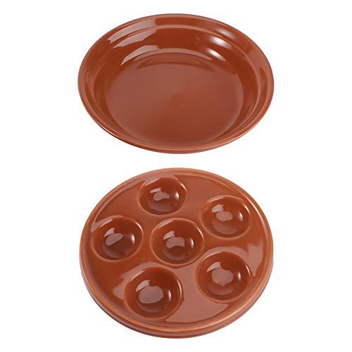 Nicexmas - Placa de caracol de cerámica (2 unidades)