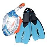 SEAC Set Unica Sprint Pack de Snorkel (máscara intégral de Buceo y...