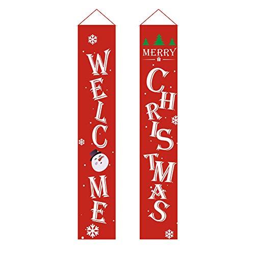 Cartel navideño de Bienvenida, pancartas de Bienvenida navideñas, Pancarta de Feliz Navidad,...