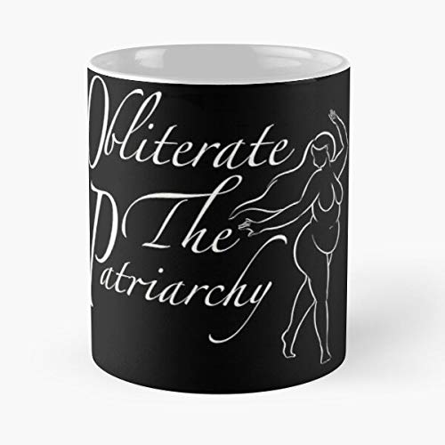 Destroy Plus Fat Feminism Patriarchy Size Smash Feminist Eat Food Bite John Best Taza de café de cerámica de 325 ml